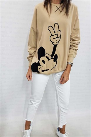 Mickey Peace Sweatshirt