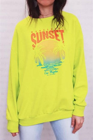 Sunset Neon Yeşili Sweatshirt