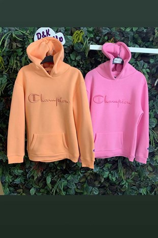 Champion Logolu Kapüşonlu Sweat