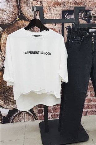 Different Is Good Sweat Kumaş Tshirt